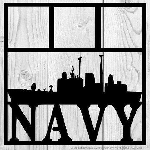 Navy Scrapbook Overlay
