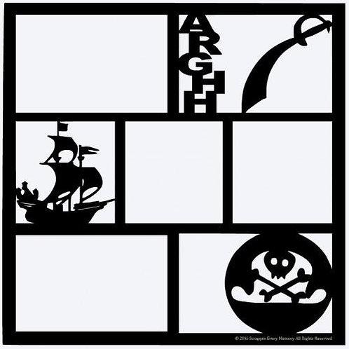 Pirate Scrapbook Overlay