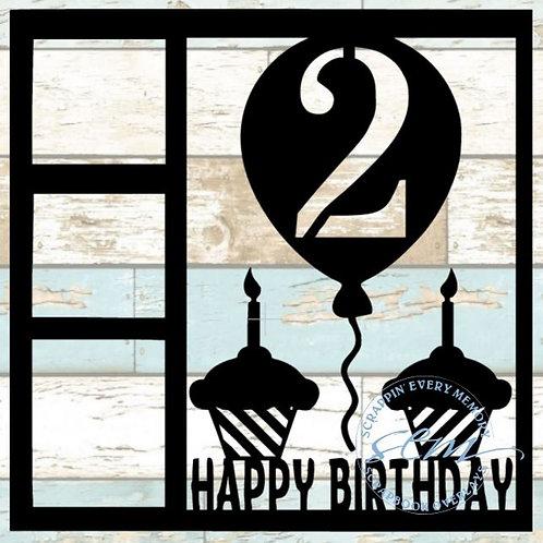 Happy Birthday 2 Scrapbook Overlay
