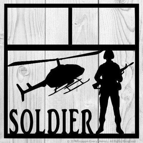 Soldier Scrapbook Overlay