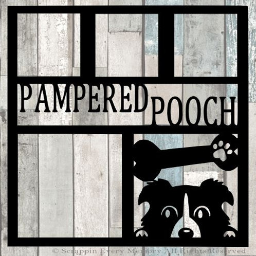 Pampered Pooch Scrapbook Overlay