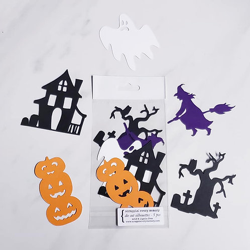 Halloween Die Cut Silhouette Mini Set