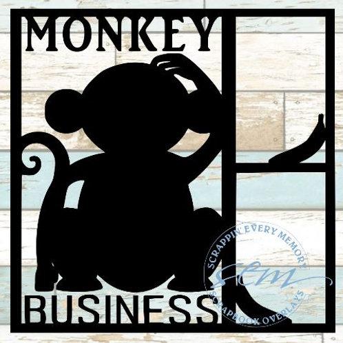 Monkey Business Scrapbook Overlay