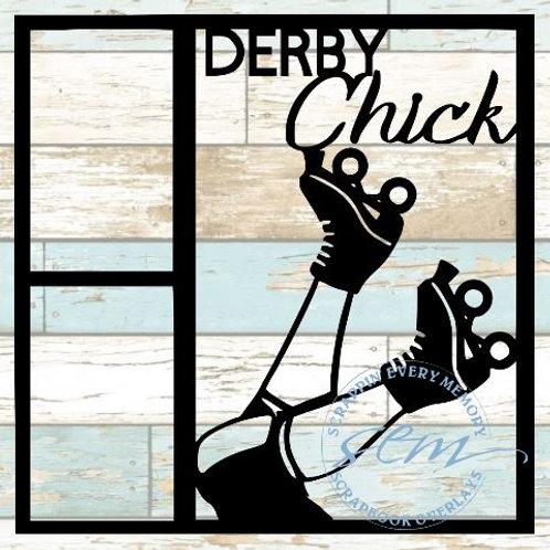 Derby Chick Scrapbook Overlay