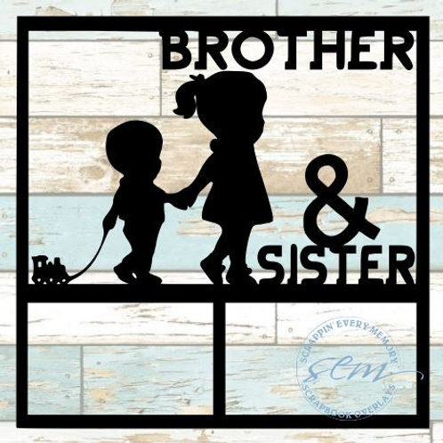 Brothers & Sisters Scrapbook Overlay