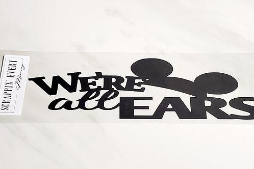 We're All Ears Scrapbook Deluxe Die Cut