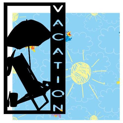 Vacation Vertical Scrapbook Title