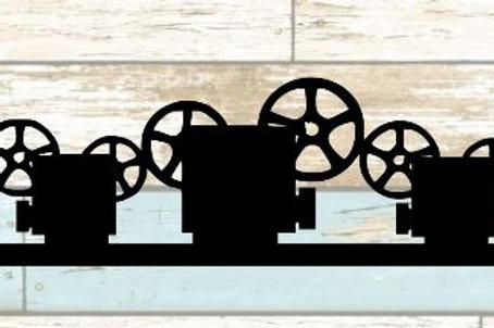 Movie Projector Scrapbook Border