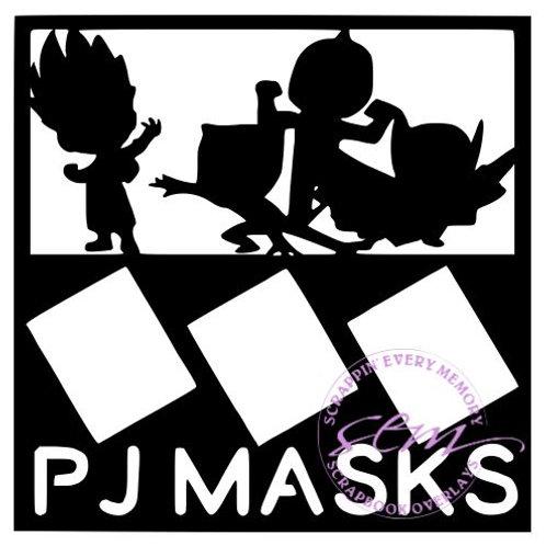 PJ Masks Scrapbook Overlay