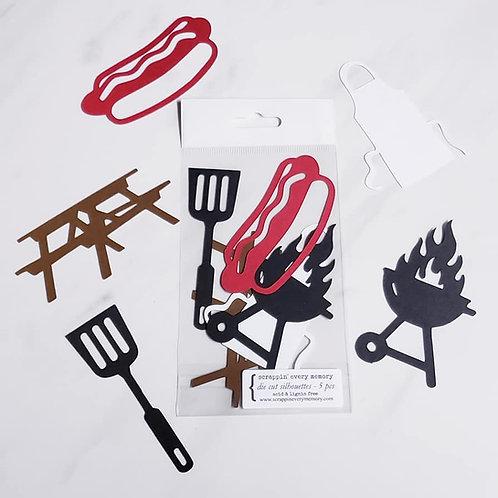 BBQ Die Cut Silhouette Mini Set