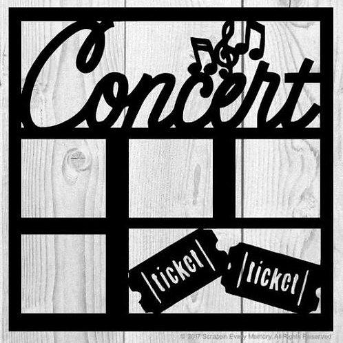 Concert Scrapbook Overlay