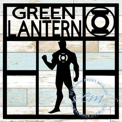 Green Lantern Scrapbook Overlay