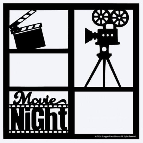 Movie Night Scrapbook Overlay
