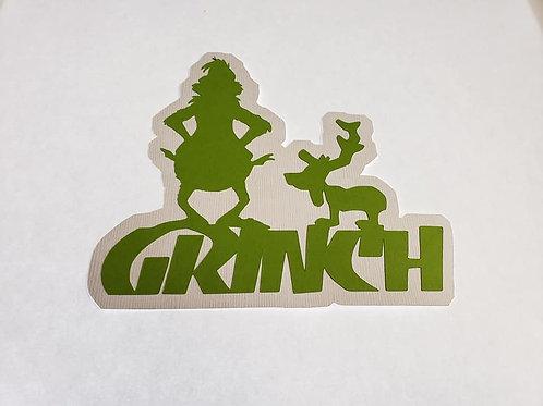 Grinch Paper Piecing Die Cut