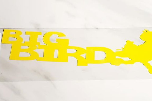 Big Bird Scrapbook Deluxe Die Cut
