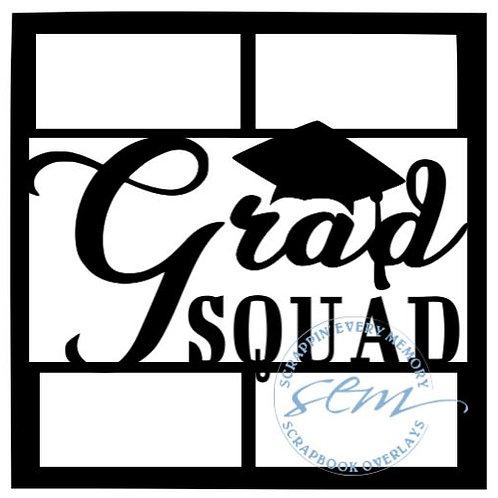 Grad Squad Scrapbook Overlay