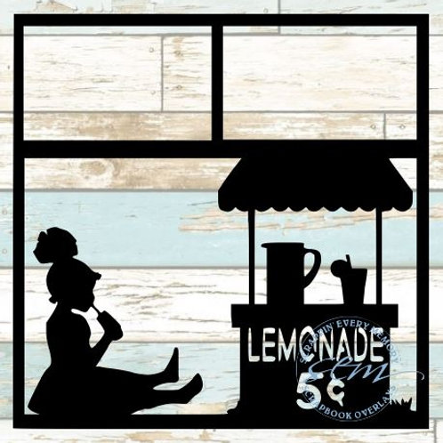Lemonade Stand Scrapbook Overlay