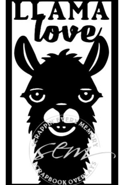 Llama Love Vertical Scrapbook Title