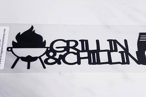 Grillin & Chillin Scrapbook Deluxe Die Cut