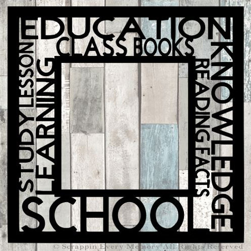 School Tag Text Scrapbook Overlay