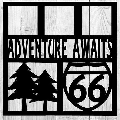 Adventure Awaits Scrapbook Overlay
