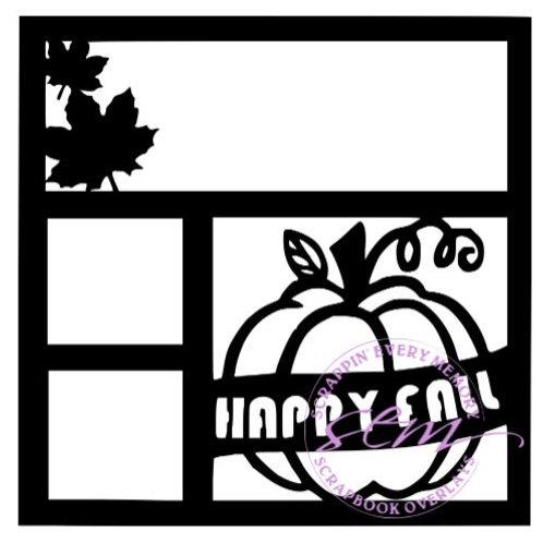 Happy Fall Scrapbook Overlay