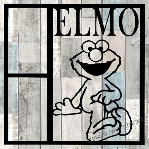 Elmo Scrapbook Overlay