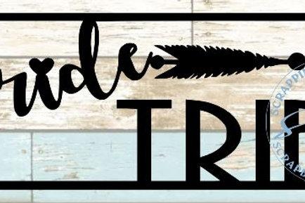 Bride Tribe Scrapbook Title