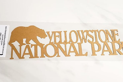 Yellowstone National Park Scrapbook Deluxe Die Cut
