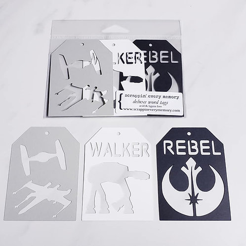 Star Wars Deluxe Word Tags