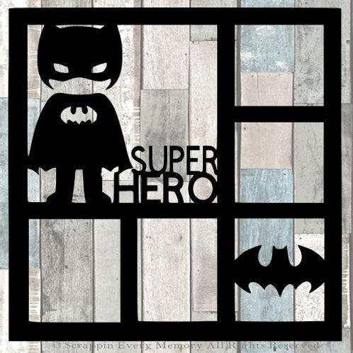 Super Hero Scrapbook Overlay