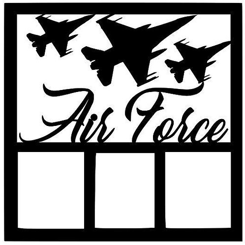 Air Force Scrapbook Overlay