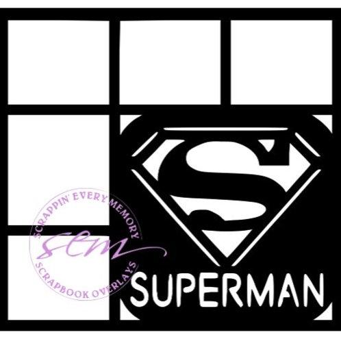 Superman Scrapbook Overlay