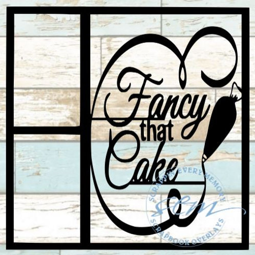 Fancy That Cake Scrapbook Overlay