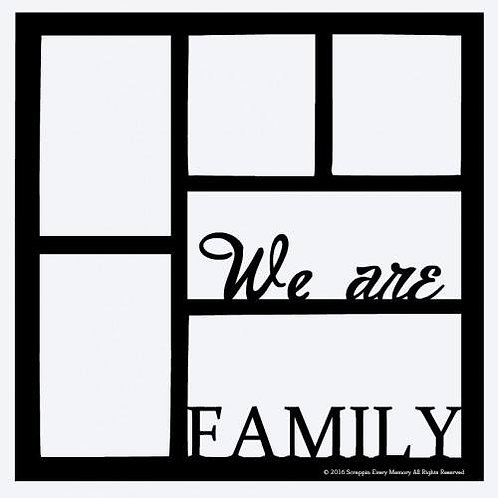 We Are Family Scrapbook Overlay
