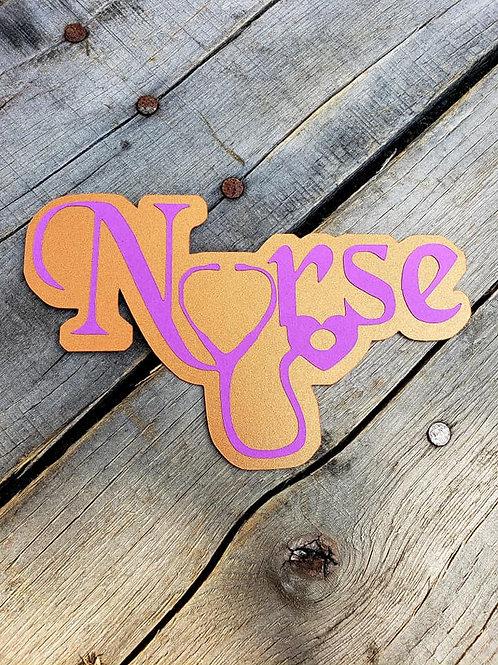 Nurse Paper Piecing Die Cut