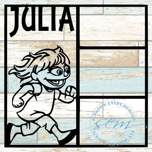 Julia Sesame Street Scrapbook Overlay
