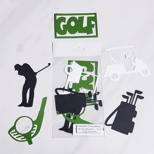 Golf Die Cut Silhouette Mini Set