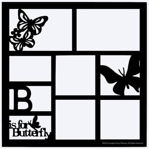 B Is For Butterfly Scrapbook Overlay