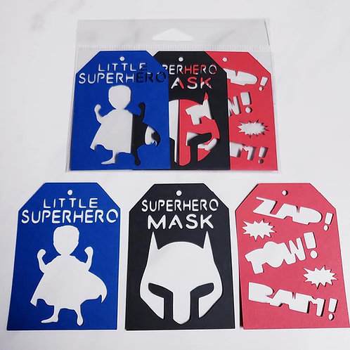Little Superhero Deluxe Word Tags