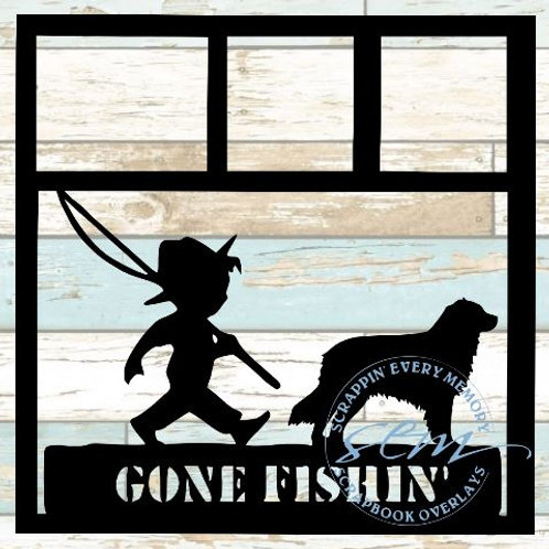 Gone Fishing Scrapbook Overlay