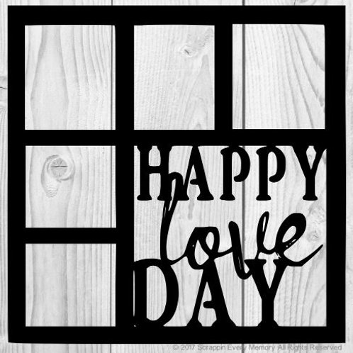 Happy Love Day Scrapbook Overlay