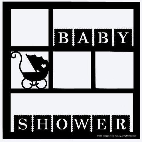 Baby Shower Scrapbook Overlay