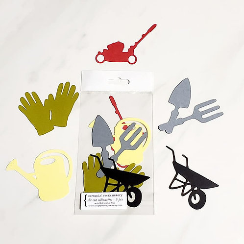 Gardening Die Cut Silhouette Mini Set