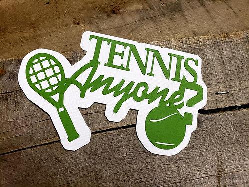 Tennis Anyone? Paper Piecing Die Cut