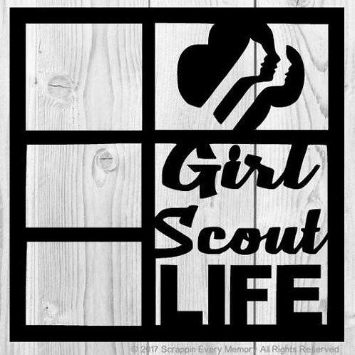 Girl Scout Life Scrapbook Overlay
