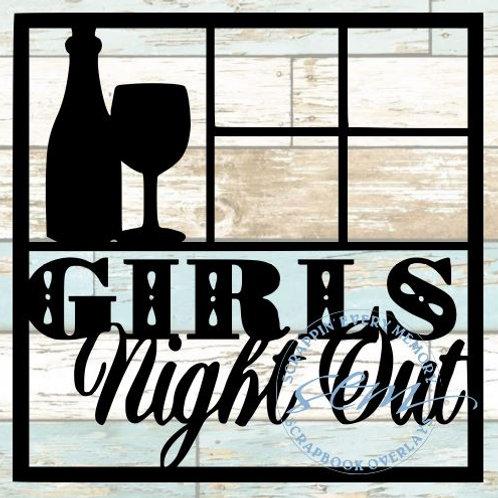 Girls Night Out Scrapbook Overlay