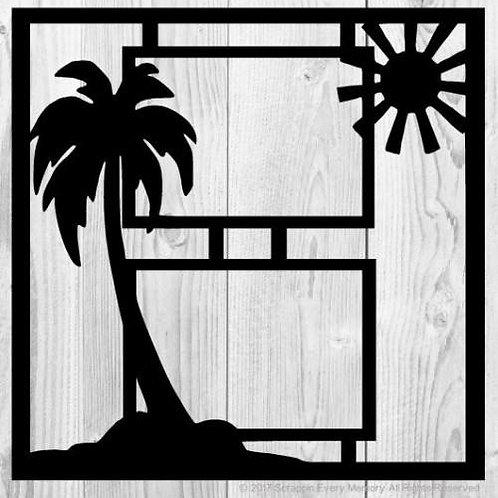 Palm Tree & Sun Scrapbook Overlay