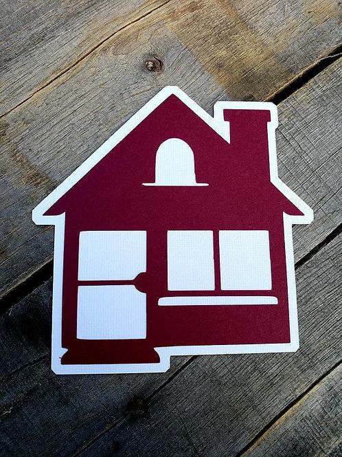 House Paper Piecing Die Cut