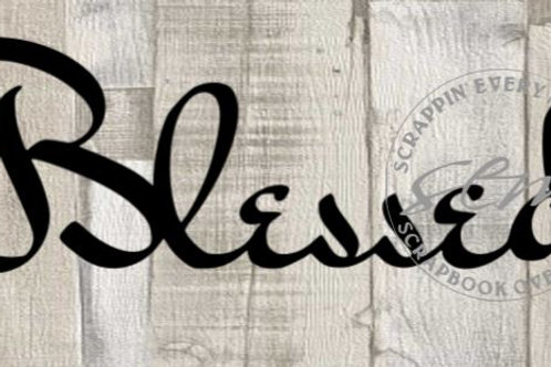 Blessed Scrapbook Page Script Single